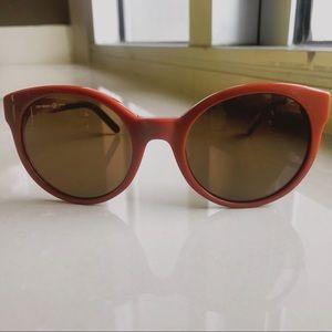 Tory Burch retro chestnut sunglasses